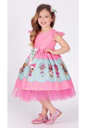 Mnk Kız Çocuk Pembe Tütülü 6 Yaş Elbise 3