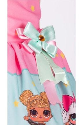 Mnk Kız Çocuk Pembe Tütülü 6 Yaş Elbise 4