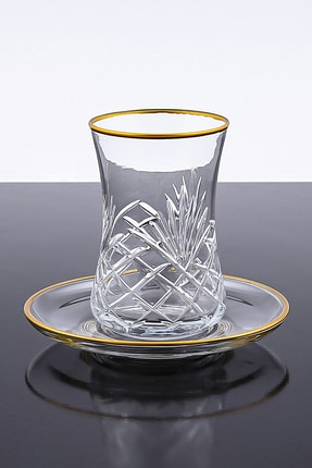 Paşabahçe Desenli Kesme 12 Parça 6 Kişilik Çay Bardağı Seti 0