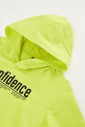 Defacto Erkek Çocuk Yazı Baskılı Sweatshirt ve Jogger Eşofman Alt Takım 4