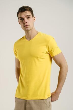 Oksit Riley V Yaka Slim Fit Basic Erkek Tshirt 0