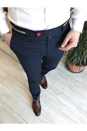 TerziAdemAltun Italyan Stil Slim Fit Erkek Kumaş Pantolon Koyu Lacivert T4422 1
