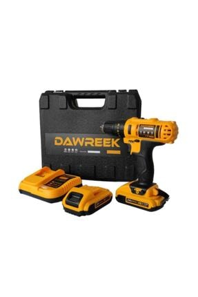Dawreek 24v Setli Çift Bataryalı Metal Şanzımanlı Darbeli Şarjlı Matkap Cordless Impact Drill 2