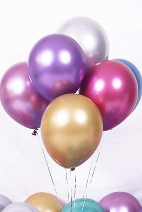 Magic Hobby Krom Parlak Metalik Karışık Renk 5'li Balon 0