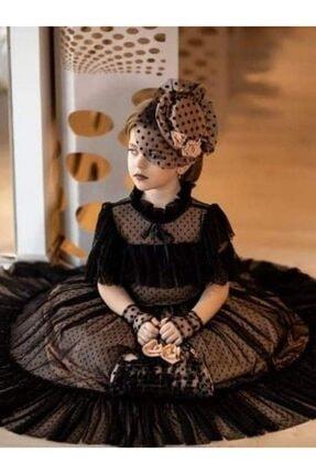 Riccotarz Kız Çocuk Noble Beaute Şapkalı Siyah Abiye 1