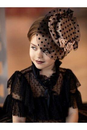 Riccotarz Kız Çocuk Noble Beaute Şapkalı Siyah Abiye 2