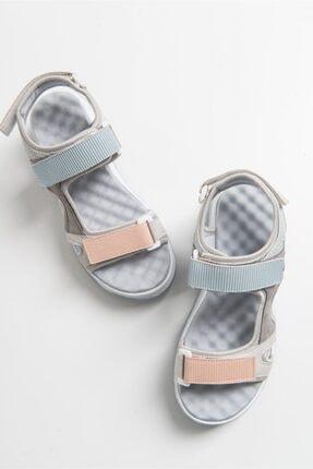 LuviShoes Kadın Buz Mavisi Bantlı Sandalet 3