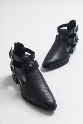 LuviShoes 9 Sıyah Cilt Kadın Ayakkabı 0