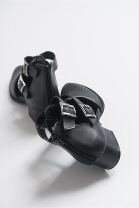 LuviShoes 9 Sıyah Cilt Kadın Ayakkabı 2