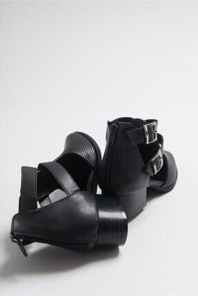 LuviShoes 9 Sıyah Cilt Kadın Ayakkabı 4