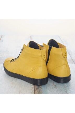LuviShoes Sarı Cilt Kadın Bot 1