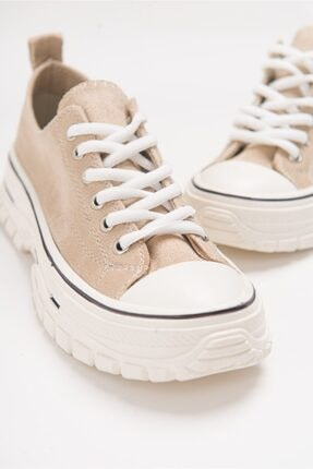 LuviShoes 1453 Ten Süet Kadın Spor Ayakkabı 1