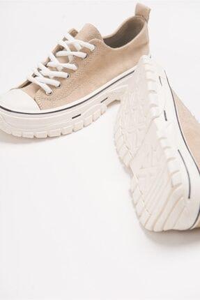 LuviShoes 1453 Ten Süet Kadın Spor Ayakkabı 2