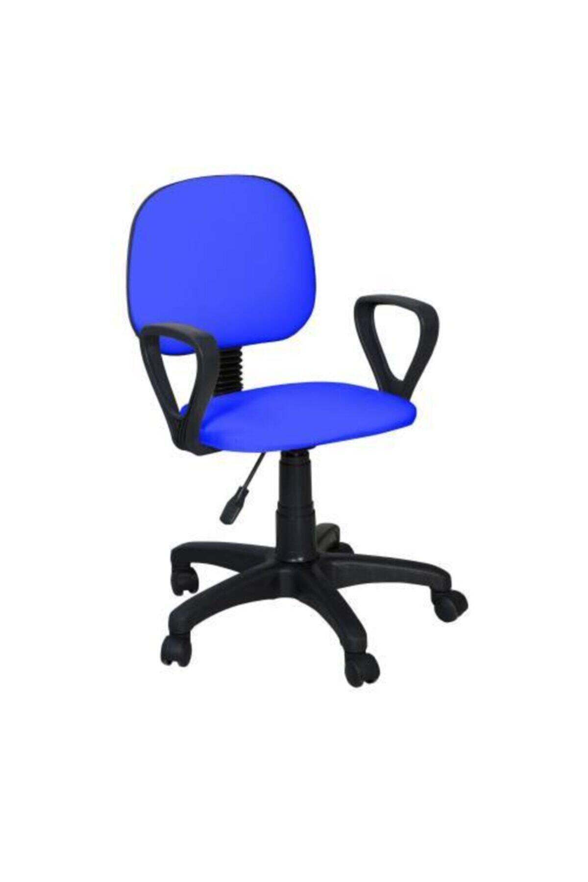 Boss Döner Tekerlekli Mavi Sandalye Ofis Çalışma Koltuğu