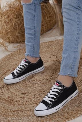 Odal Shoes Unisex Siyah Ortopedik Şeritli Sneakers Cnvrs3579746 0