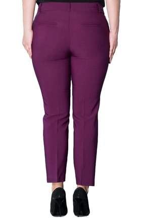 Hanezza Kadın Mor Bilek Boy Cepli Pantolon PT2136 3