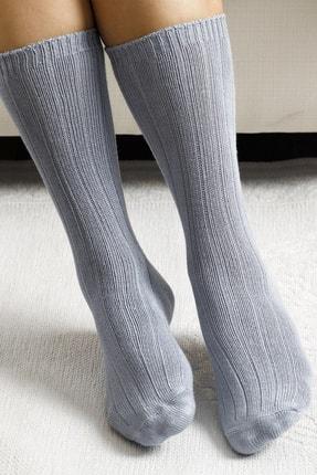 تصویر از Caraline Bambu Kadın Çorap Gri