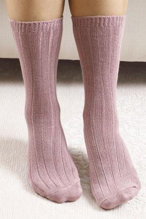 تصویر از Caraline Bambu Kadın Çorap Pembe