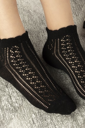 English Home Amber Pamuk Kadın Çorap Siyah 1