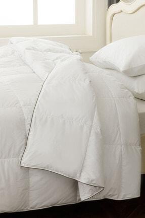 English Home Super Soft Kaz Tüyü Çift Kişilik Yorgan 195x215 Cm Beyaz 0