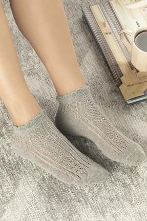 تصویر از Amber Pamuk Kadın Çorap Gri