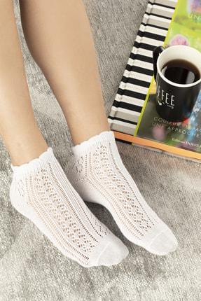 تصویر از Amber Pamuk Kadın Çorap Beyaz
