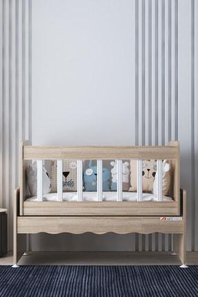 Aktehome Baby Sallanır Anne Yanı Ahşap Bebek Beşiği Sonomo 2