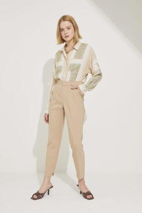 adL Kadın Camel Paçası Yırtmaçlı Cepli Pantolon 0