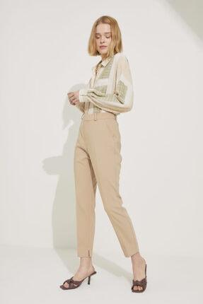 adL Kadın Camel Paçası Yırtmaçlı Cepli Pantolon 1