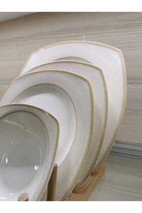 Schafer Elga Porselen Yemek Takımı 24 Parça Altın 4