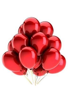 Organizasyon Pazarı 12 Inç Metalik Kırmızı Balon 10'lu 0