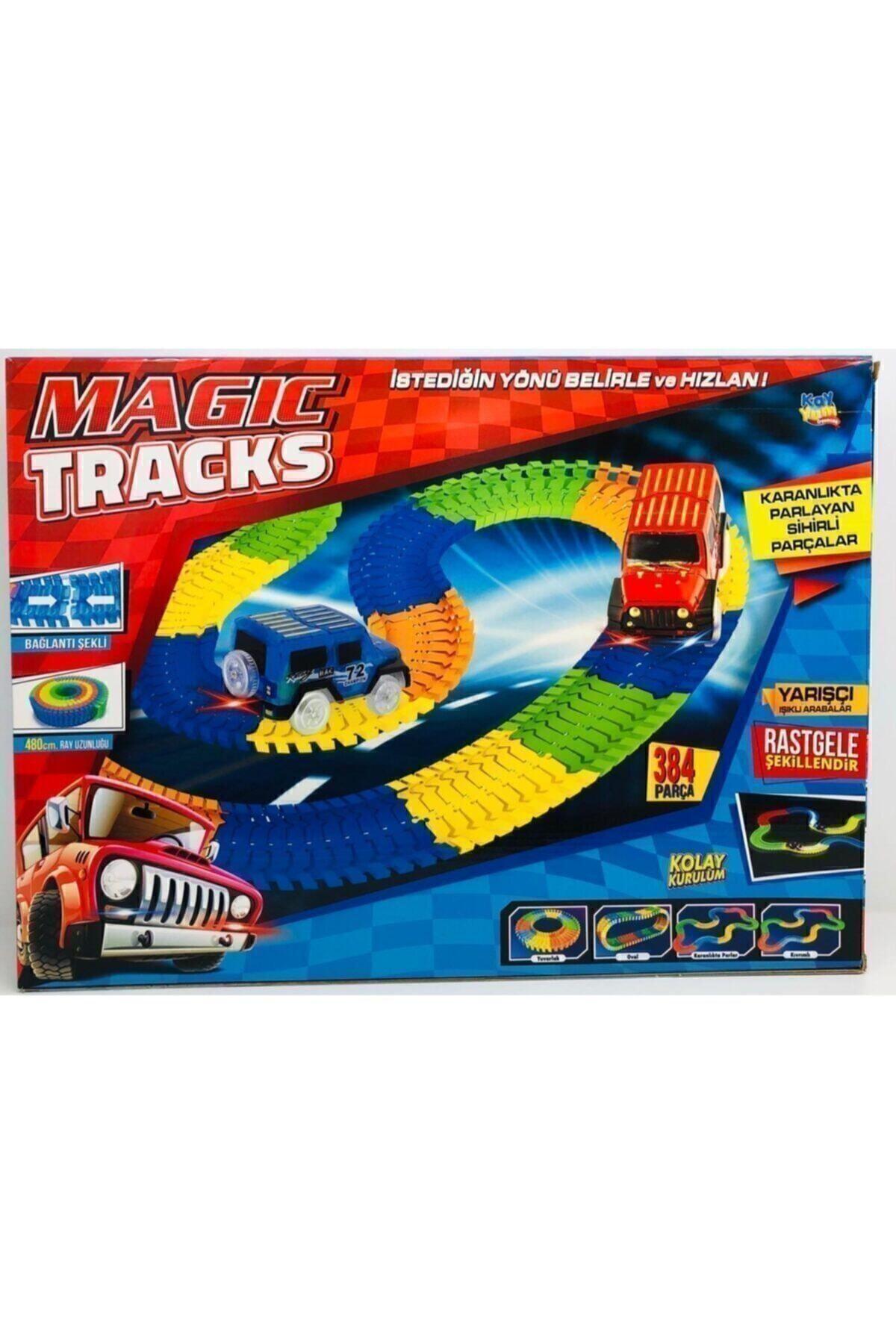 Kayyum Oyuncak Magic Tracks Hareketli Raylar 384 Parça 2 Araba
