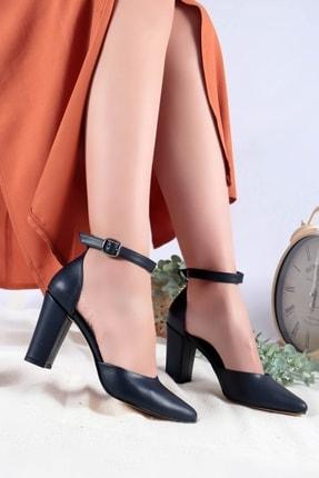 Lacivert Cilt Topuklu Ayakkabı 312512