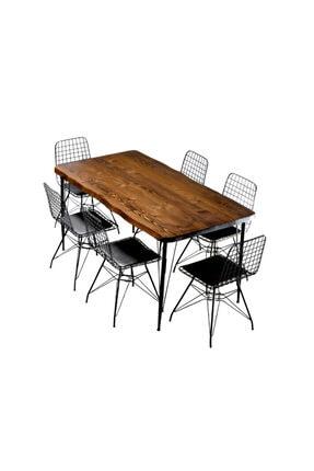 Sağıroğlu Ahşap Ahşap 4 Kişilik Kütük Yemek Masası 80x140 0