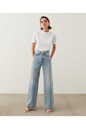 İpekyol Kadın Mavi Super High Rise Wide Leg Fit Jean Pantolon IS1210018023 0