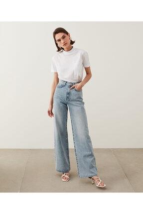 İpekyol Kadın Mavi Super High Rise Wide Leg Fit Jean Pantolon IS1210018023 2