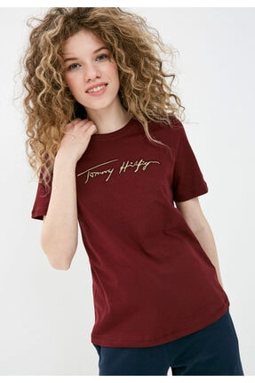 Tommy Hilfiger Icon Işlemeli Kadın Tshirt 0