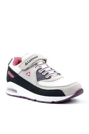 Çocuk Gri Beyaz Spor Ayakkabı resmi