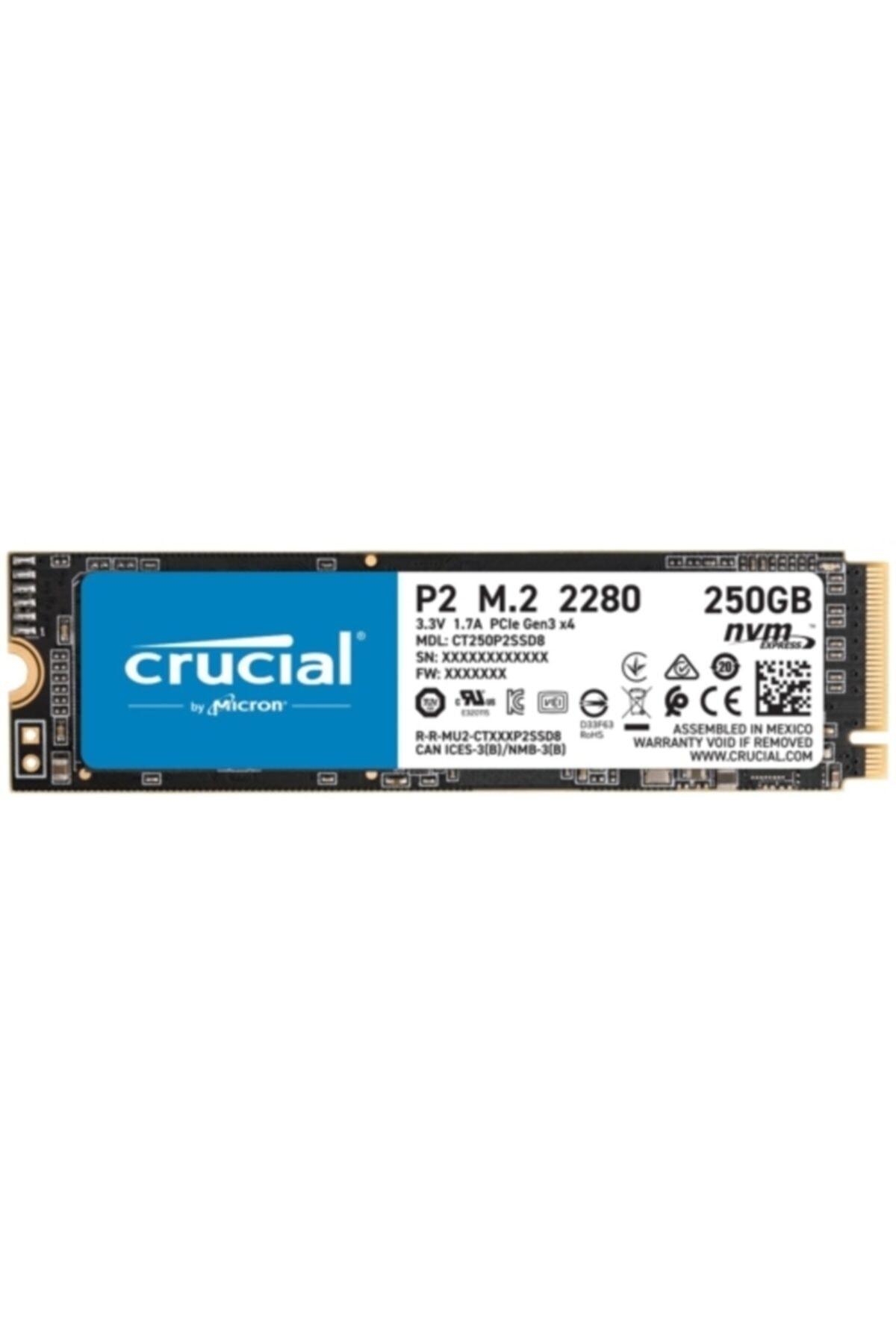 P2 250 Gb Ct250p2ssd8 2100-1150 Mb/s Nvme Pcıe M.2 Ssd