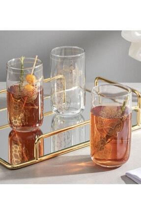 English Home Luba Cam 3'lü Meşrubat Bardağı 365 Ml Gold 0