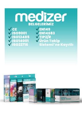 Medizer Türk Bayrağı Desenli Meltblown Ultrasonik 3 Katlı Cerrahi Maske 10'lu 1 Kutu - Burun Telli 4