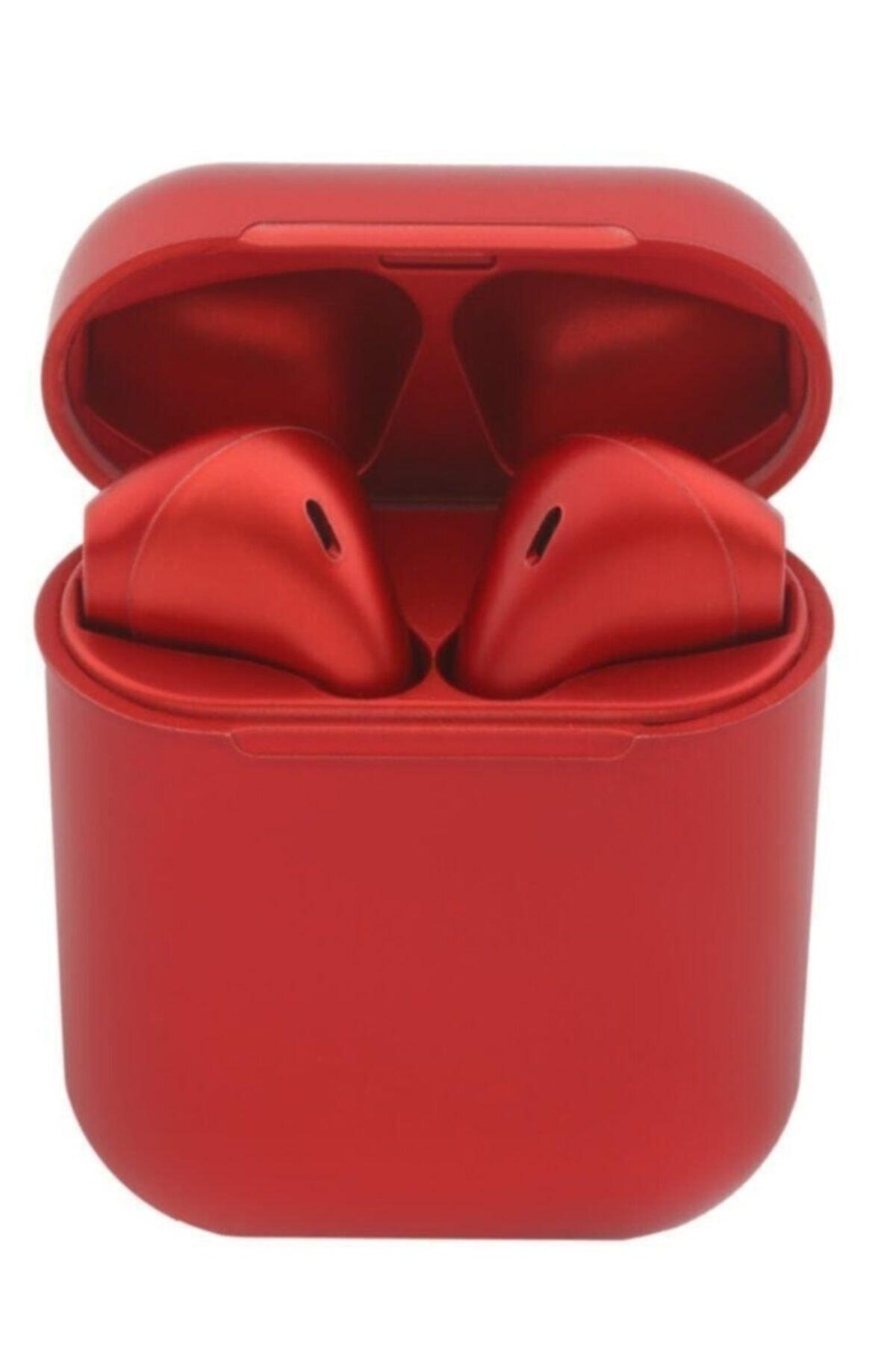 I12 Kırmızı Iphone Android Universal Bluetooth Kulaklık HD Ses Kalitesi 0945347310220