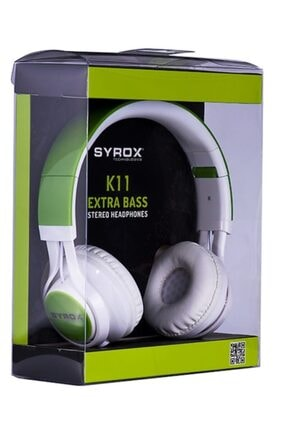 Syrox K11 Stereo Kablolu Kulaküstü Kulaklık-sarı 0