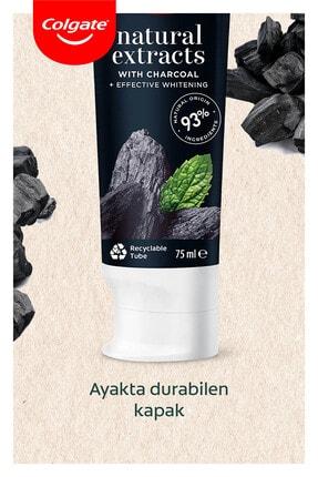 Colgate Natural Extracts Aktif Karbon ve Nane Diş Macunu 75 ml x 4 Adet + Fırça Kabı Hediye 4