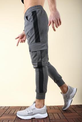 Oksit Masi 2020 Slim Fit Şeritli Kargo Cep Erkek Eşofman Altı 1
