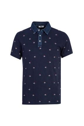 Kiğılı Polo Yaka Slim Fit Baskılı Tişört 0