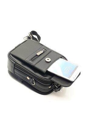MODA Erkek Çelik Kasalı El Ve Omuz Çantası Telefon Bölmeli Orta Boy 4
