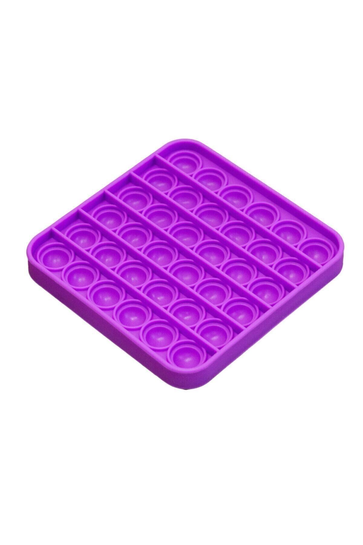 Başel Toys Push Bubble Fidget Özel Pop Duyusal Oyuncak Zihinsel Stres ( Mor Renk, Kare)