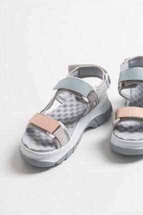 LuviShoes Kadın Buz Mavisi Bantlı Sandalet 1