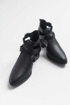 LuviShoes 9 Sıyah Cilt Kadın Ayakkabı 1